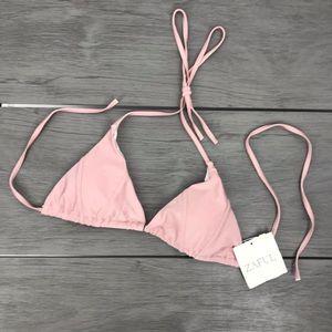 🖤3/$30 Zaful bikini top halter pink medium